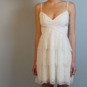 White BCBG lace mini dress